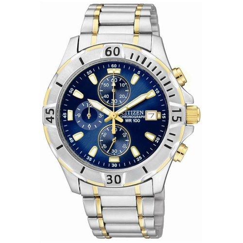 Citizen Quartz Chronograph Blue Dial Men's Watch - AN3394-59L
