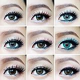 Black 1 Pair False Eyelashes 100% Human Hair Strip Lash Fake Eye Lashes DM12