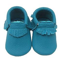 Sayoyo Baby Dodgerblue Tassels Soft Sole Leather Infant Toddler Prewalker Shoes