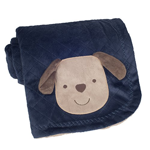 Carter's Textured Velour Blanket, Aviator Puppy (Discontinued by Manufacturer) - 1