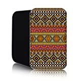 AZTEC Pattern [Coffee] Nokia Lumia 820 (L) Shock Resistant Neoprene Mobile Phone Case, Cover, Pouch