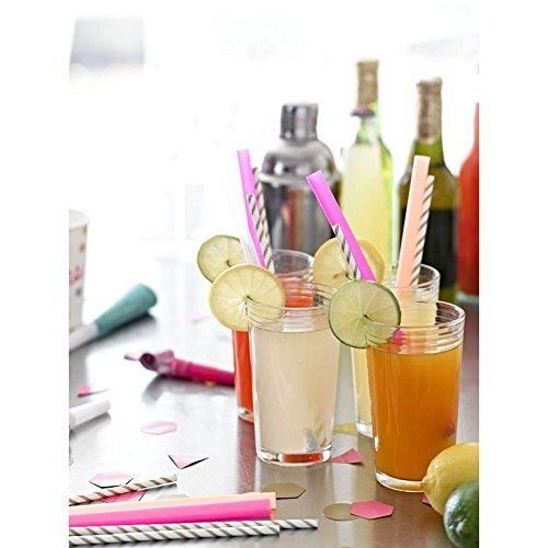 Talking Tables Party Time Lot de 12 Pailles géantes
