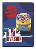 Cuaderno escolar-Cuaderno (DIN A5rayado Minion Invasion Hello London 60páginas