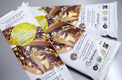 Baroness Chocolates 80 gram Chocolate Bar with Coffee, Sponge Toffee, Sea Salt and Almonds: Mocha Krunhjay