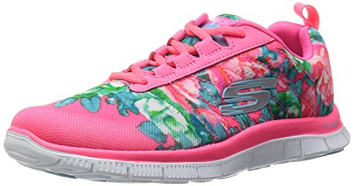 Skechers (SKEES) - Flex Appeal- Wildflowers, Scarpa Tecnica da donna, rosa (hpmt), 36