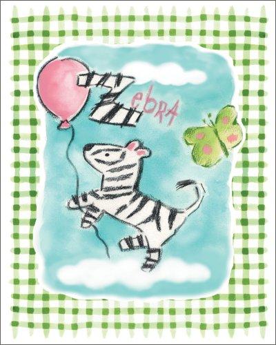"Art 4 Kids ""Gingham Zebra"" Mounted Art Print, 16""X20"" front-921113"