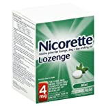 Nicorette Stop Smoking Aid, 4 mg, Lozenges, Mint 72 lozenges