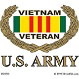 "U.S. Army Vietnam Veteran Sticker 3-1/4""X3-1/2"""