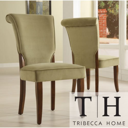 The velvet andorra upholstered dining chairs set of 2 will for Best place to buy dining room chairs