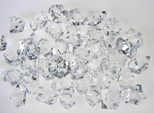 Acrylic clear ice rocks cubes 300g bag longbang vase for 15 creative vase fillers