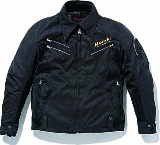 [ホンダ] Honda CLASSICS ブラックライダースSS ジャケット ES-P3K プロテクター標準装備 バイク用 春夏秋 / ブラック / M / 0SYES-P3K-KM