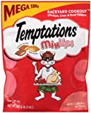 TEMPTATIONS MixUps BACKYARD COOKOUT Flavor Treats for Cats 6.3oz Pouch Mega Bag (Pack of 10)