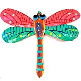 Pink Recycled Metal Dragonfly Wall Hanging
