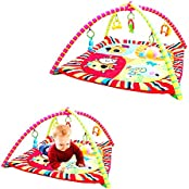 Toy Cubby Adorable Baby's Play Gym Mat And 5 Toys - With Music