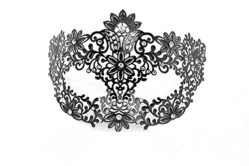 CIShop Deluxe Laser Cut Metal Venetian Masquerade Mask for Halloween Cosplay