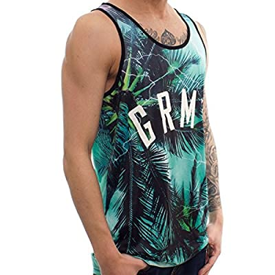 GRIMEY BROKEN PALMS Tanktop Green