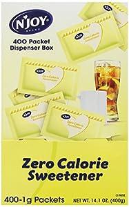 N'Joy Zero Calorie Sweetener, Yellow Sucralose 400 count,1 gram.