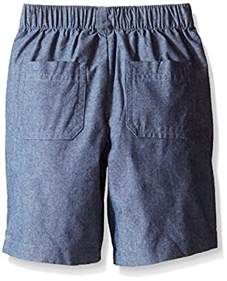 Nautica Little Boys' Two Piece Short Sleeve Woven Shirt with Pull On Bottom