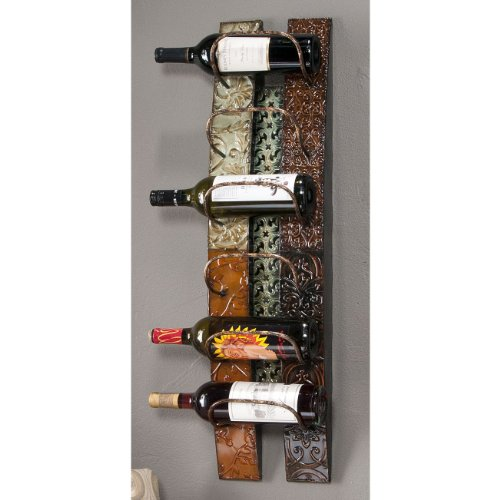 "Adriano Wall Mount Wine Storage (Multicolored) (33.25""H x 8.75""W x 7""D)"