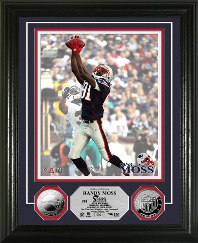Highland Mint NFL New England Patriots Randy Moss 2010 Silver Coin Photomint