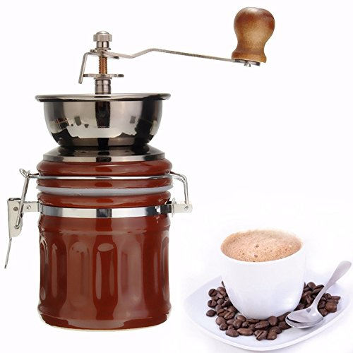 Handmade Handy Manual Spice Coffee Bean Pepper Grinder Mill Stainless Steel Grinder With Ceramic Core Coffee Maker (Wall Mount Coffee Pot compare prices)