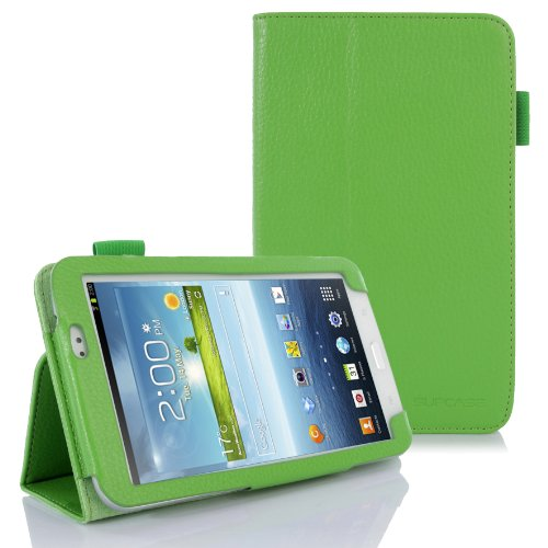 SUPCASE Slim Fit Folio Leather Case Cover for Samsung Galaxy Tab 3 7.0 inch Tablet (SM-T210/T211; Multiple Color Options; Green)