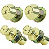dib Global Sourcing 5762/D101PB-ET-QP-CP Steel Pro Entry Lockset And Single Cylinder Quad Pack