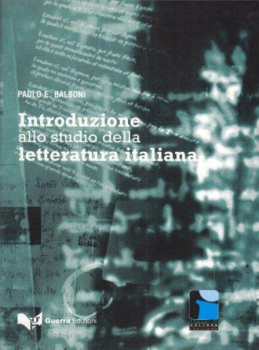 Introduzione allo studio della letteratura italiana. (Lernmaterialien)