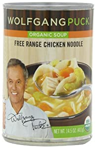 Wolfgang Puck Organic Chicken with Egg Noodles Soup, 14.5-Ounce Cans (Pack of 12)
