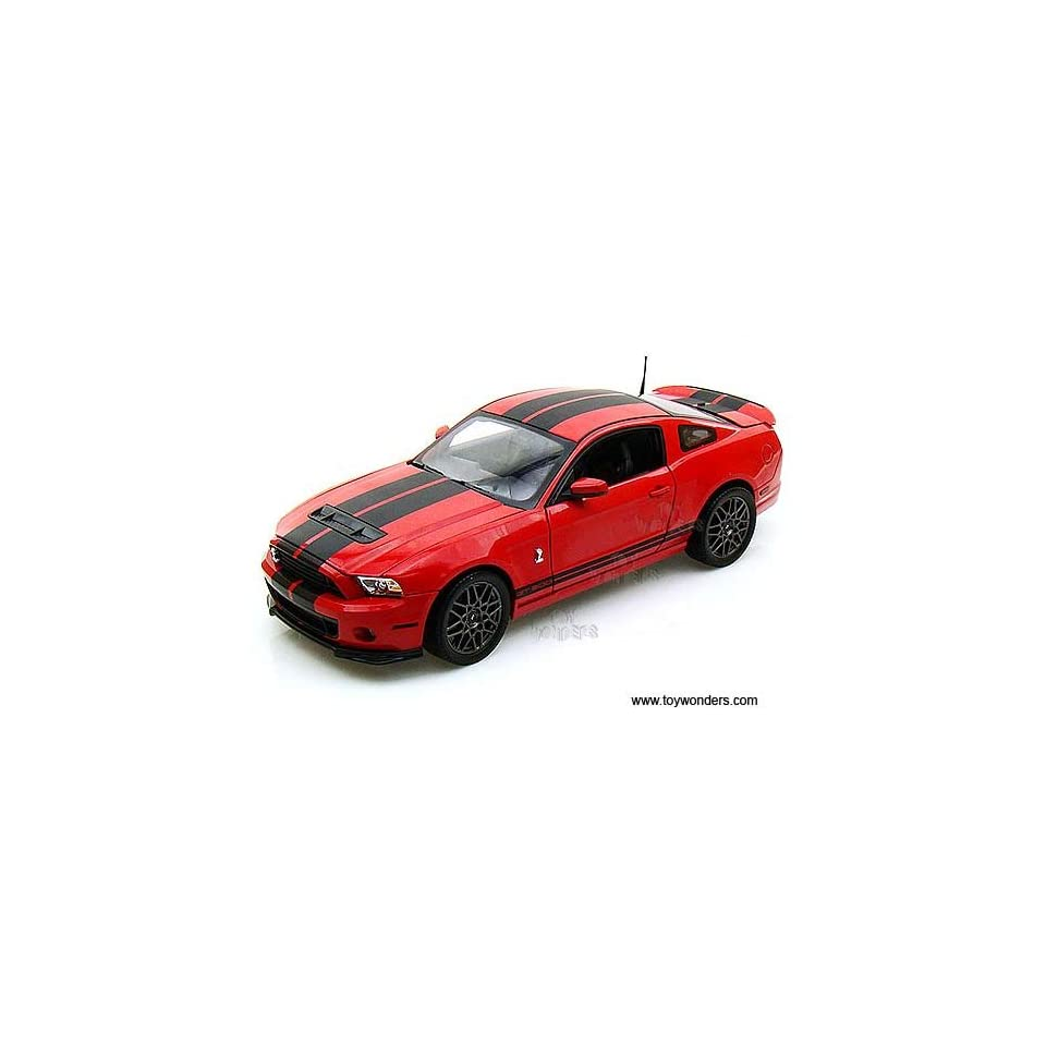 Sc391r Shelby   Ford Shelby Gt500 Hard Top (2013, 118, Red w/ Black Stripes) Sc391 Diecast Car Model Auto Vehicle Automobile Metal Iron Toy