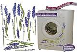 Aufkleber z.B. für Maschmaschine wasserfest - Lavendel lila 24 Stück - Sticker Tattoo Waschmaschinen