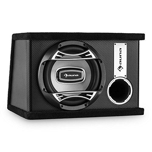 auna-SUB10BK-aktiver-Auto-Subwoofer-Lautsprecherbox-mit-integr-Versrker-400-Watt-Basskiste-25-cm-10-Tieftner-Karbon-Look-Finish-schwarz