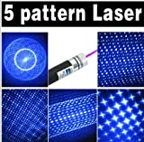 HitLight High Quality Blue/Violet Laser Pointer 5 in 1 (With 5 Patterns)