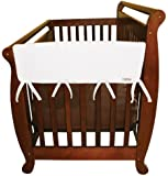 "Trend Lab Fleece CribWrap Rail Covers for Crib Sides (Set of 2), White, Wide for Crib Rails Measuring up to 18"" Around!"