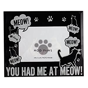 """MODPAWS """"You Had Me at Meow"""" Photo Frame"""