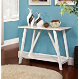 Contemporary Welcome Entry-Hall Way White Console Table