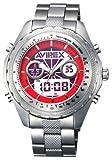 AVIREX (アビレックス) 腕時計 メタルデジアナアニメーションレッドメンズAX-017M-4