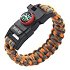 Paracord Survival Bracelet - A Great Hiking Multi Tool with Emergency Whistle