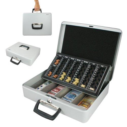 Geldkassette, Zählkassette/ Transportkassette 370 x 290 x 110 mm, lichtgrau