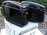 New Hard Saddle bags Saddlebags w/ mounting kits Fit Honda Shadow Kawasaki Vulcan VN Black