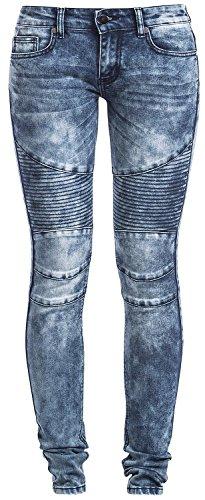 Forplay Biker Pants Jeans donna blu W31L32