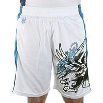 Ed Hardy Eagle Mesh Shorts - White - Medium