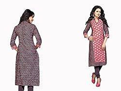 RR Fashion Women's Cotton KURTI (RRF3010_MULTICOLOUR)