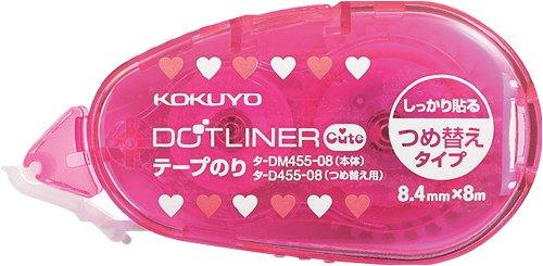 コクヨS&T テープのり<ドットライナーキュート>(本体) タ-DM455-08
