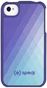 Speck Products Fitted Hard Case with Fabric for iPhone 4/4S - 1 Pack - Carrying Case  - DiamondFog Purple