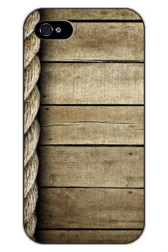 Sprawl New Fashion Design Hard Skin Case Cover Shell For Mobilephone Apple Iphone 5 5S--Wooden And Hemp Rope Pattern