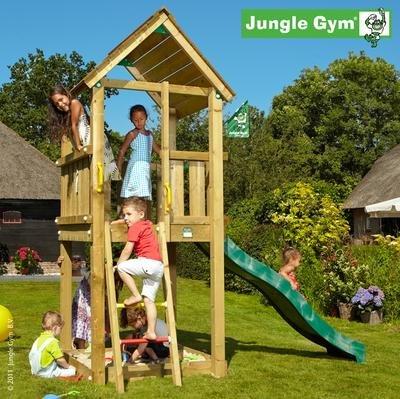 Jungle Gym Spielturm CLUB mit Rutsche - Grün