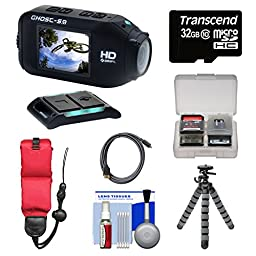 Drift Innovation HD Ghost-S Wi-Fi Waterproof Digital Video Action Camera Camcorder with 32GB Card + Floating Strap + Flex Tripod + Kit