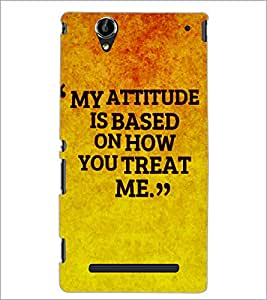 PrintDhaba Quote D-4907 Back Case Cover for SONY XPERIA T2 ULTRA (Multi-Coloured)