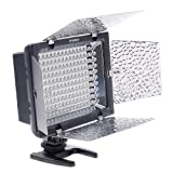 YONGNUO YN-160 160 LED Video Light with Filters for Canon EOS,Nikon,Olympus,Panasnic DSLR/SLR Digital Camera/Camcorder Compatible with 7 Different Kinds of Batteries: Panasonic CGR-D16S/CGR-D220, Sony NP-FH70/NP-FM55H/NP-F550 Ni-MH and AA batteries.